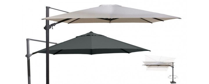 parasol excentr pied 90 kg siesta 3x3 m parasols parasol voile d 39 ombrage mobilier de jardin. Black Bedroom Furniture Sets. Home Design Ideas