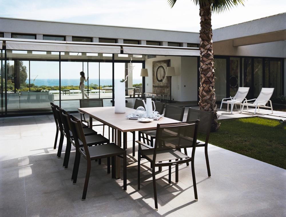 Table costa extensible -FER FORGE d\'extérieur, alu, FERMOB-Mobilier ...