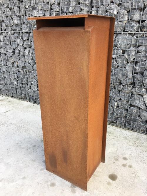 acier corten corleone divers bo te aux lettres mobilier de jardin demonceau s a. Black Bedroom Furniture Sets. Home Design Ideas