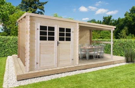 Abri super promo p88915 240 300x240 cm abris de jardin bois 28 mm abri de jardin abris de - Porte de garage 300x240 ...